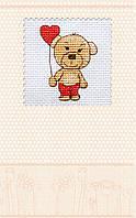 Набор-открытка для вышивки крестом «Валентинка Мишка»
