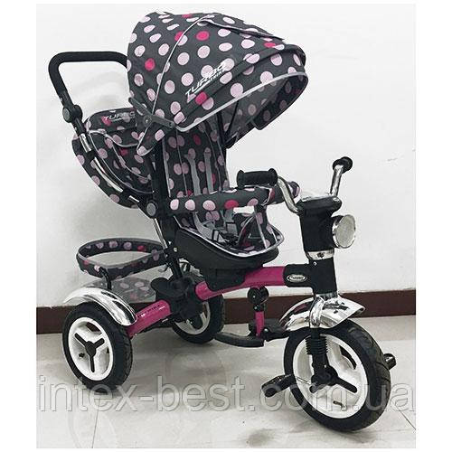 Трехколесный велосипед Turbo Trike M 3199-6HA-D (Розовый)