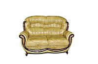 """Кожаный прямой диван без резьбы """"Jove"""" (Джове) Двухместный (150 см), Не раскладной, натуральная кожа"""