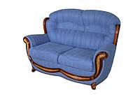 """Кожаный прямой диван без резьбы """"Jove"""" (Джове) Двухместный (150 см), Не раскладной, ткань"""