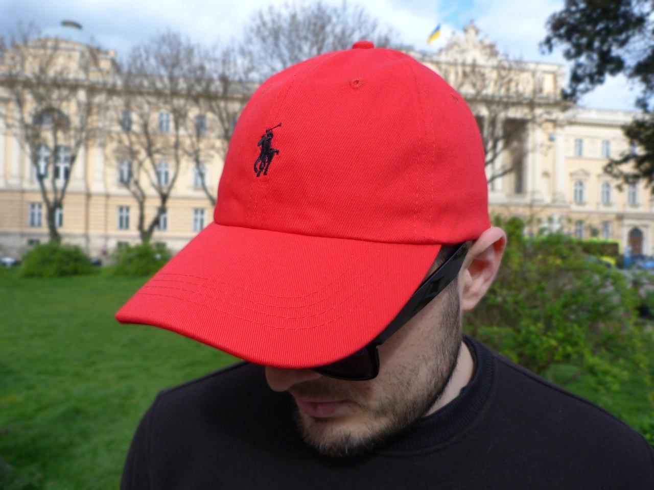 Кепка Cap by Ralph Lauren красный. Живое фото! (Реплика ААА+)