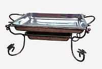 Садж прямоугольный (подставка для шашлыка) Арт-Деко