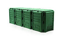 Компостер 1600L Зелёный 2610 x 719 x 826mm 4 сегментный Prosperplast