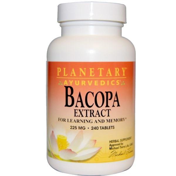 Planetary Herbals, Ayurvedics, Экстракт бакопы, 225 мг, 240 таблеток