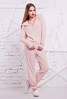 Женский персиковый костюм Мальера Glem 44-48 размеры