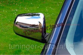 Хром-накладки на зеркала  Mitsubishi Lancer X 2007-