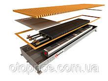 Внутрипольный конвектор для влажных помещений Polvax KVM.D 380 (принудительная конвекция)