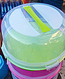 Тортовница с крышкой круглая Dunya Plastik (30х15), фото 3