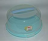 Тортовница с крышкой круглая Dunya Plastik (30х15), фото 7