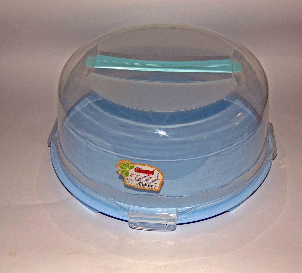 Тортовница с крышкой круглая Dunya Plastik (30х15)