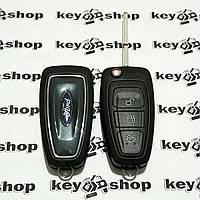 Выкидной ключ для FORD Focus (Форд Фокус) -  3 кнопки, с чипом  ID4d63(80 bit)/433MHz, лезвие HU101