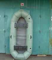 Лодка надувная резиновая Лисичанка Байкал 2 местная с увеличенным баллоном