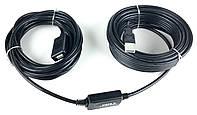 Кабель-удлинитель активный Wiretek WK-XT215, USB2.0, 15m