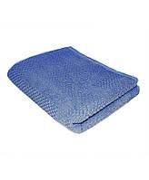 Полотенце махровое жаккардовое Синее 30*70