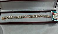 Золотой браслет с цирконами Цветы, 21,67 грамм