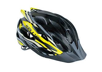 Велошлем KLS Dynamic black/yellow M/L