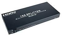 Разветвитель HDMI Wiretek WK-SH800, 1 на 8
