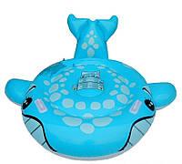 Детский надувной плотик для плавания Intex 57527 «Синий Кит», 160 х 152 см