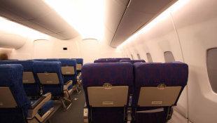 Светодиодное освещение в самолёте