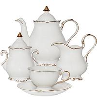 Сервиз чайный 15 пр. Снежная королева белый с золотом  SNT 1780