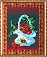 """Набор для вышивки бисером на натуральном художественном холсте """"Малина"""""""