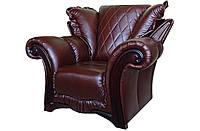 """Стильный кожаный диван """"Mayfaer"""" (Майфаер). (218 см) Кресло (128 см), Не раскладной, натуральная кожа"""
