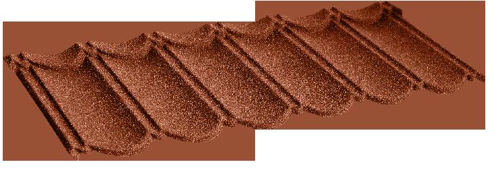 Композитна металочерепиця 10 Classic Terra cotta (0,45) 1-тайл.