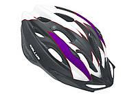 Велошлем KLS Blaze matt white/purple АКЦИЯ -35%