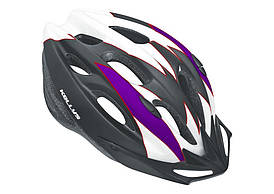 Велошлем KLS Blaze matt white/purple M/L 58-61cm
