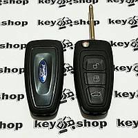 Выкидной ключ для FORD Mondeo (Форд Мондео) -  3 кнопки, с чипом  ID4d63/433MHz, лезвие FO21