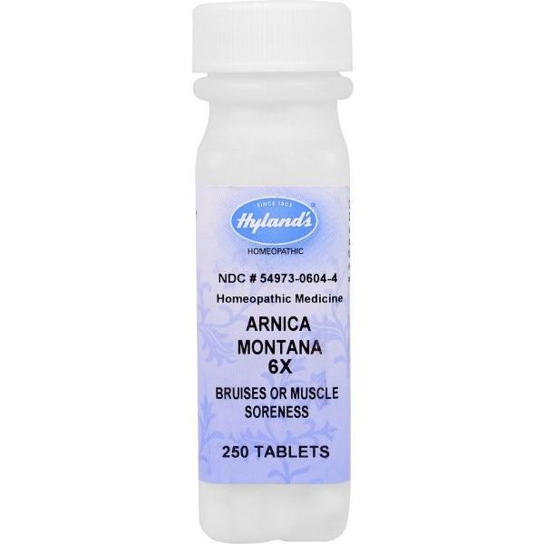 Hylands, Арника горная (Arnica montana) 6X, от боли в мышцах и кровоподтеков, 250 таблеток