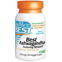 Doctors Best, Best Ashwagandha, с Sensoril, 125 мг, 60 растительных капсул