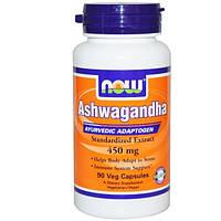 Now Foods, Ашваганда, 450 мг, 90 капсул на растительной основе