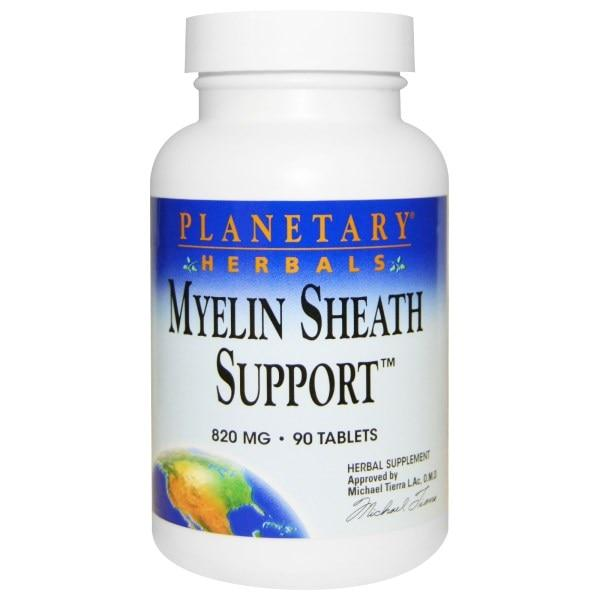 Planetary Herbals, Myelin Sheath Support, 820 мг, 90 таблеток