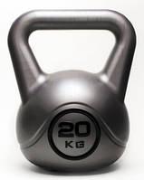 Гиря 20 кг винил для кроссфита, фитнеса, фото 1