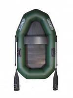 Надувная одноместная лодка Омега Ω 190 из ПВХ, твердый пол