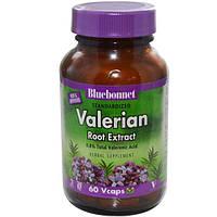 Bluebonnet Nutrition, Экстракт корня валерианы, 60 вегетарианских капсул