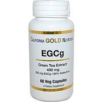 California Gold Nutrition, EGCg, экстракт зеленого чая, 400 мг, 60 растительных капсул