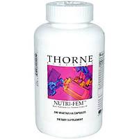 Thorne Research, Nutri-Fem, базовое питание для женщин до 40 лет, 240 капсул на растительной основе