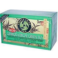 Triple Leaf Tea, Зеленый чай гинкго без кофеина, 20 пакетиков, 40 г