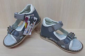 Кожаные детские босоножки для мальчика тм JG р.22, фото 3