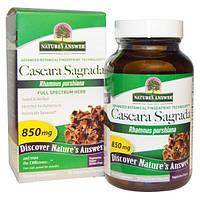Natures Answer, Крушина, растение полного спектра действия, 850 мг, 90 вегетарианских капсул