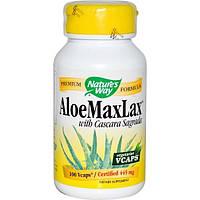Natures Way, Aloelax с крушиной, 445 мг, 100 растительных капсул