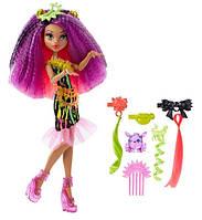 Monster High Клодин Вульф из серии Под напряжением Electrified Monstrous Hair Ghouls Clawdeen Wolf Doll DVH70