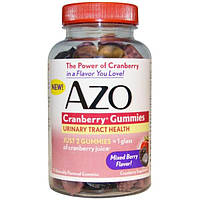 Azo, Клюквенные жевательные конфеты, Смешанный ягодный вкус, 72 штуки
