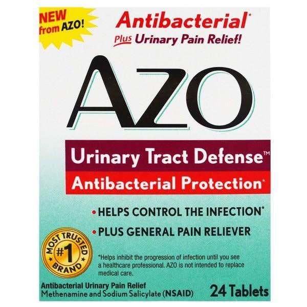 Azo, Защита мочевыводящих путей, антибактериальная защита, 24 таблетки - Интернет-магазин для здоровой жизни в Киеве