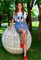 Женский летний джинсовый комбинезон r-t6110614