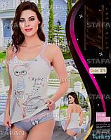 Женский комплект майка+шорты Турция MODY 370-R. Размер 48-50.