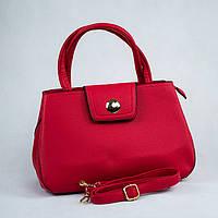 Красная женская стильная сумка с длиной ручкой