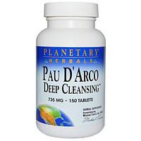 Planetary Herbals, Pau DArco Deep Cleansing, 756 mg, 150 Tablets
